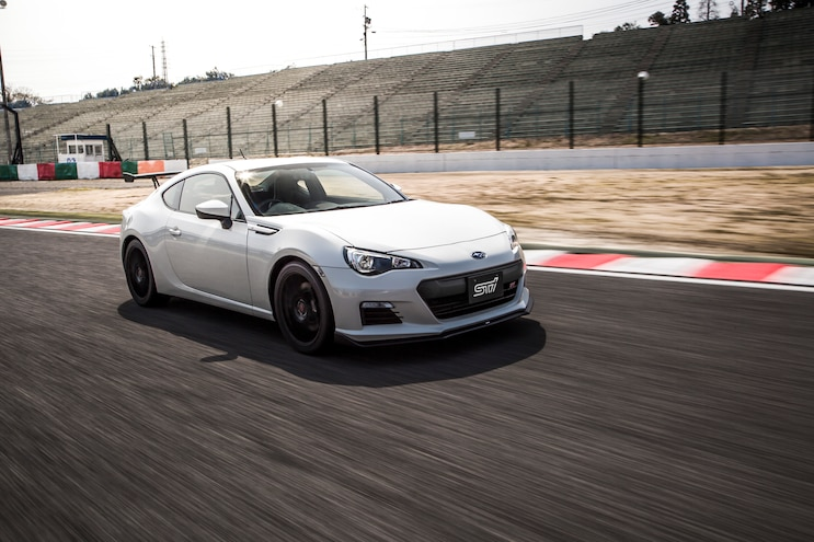 Subaru BRZ TS Tuned By STI Front Three Quarter In Motion 05