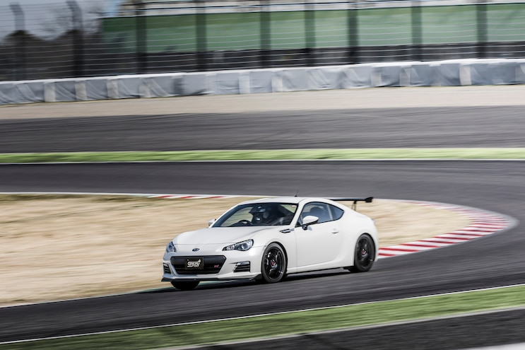 Subaru BRZ TS Tuned By STI Front Three Quarters In Motion 02