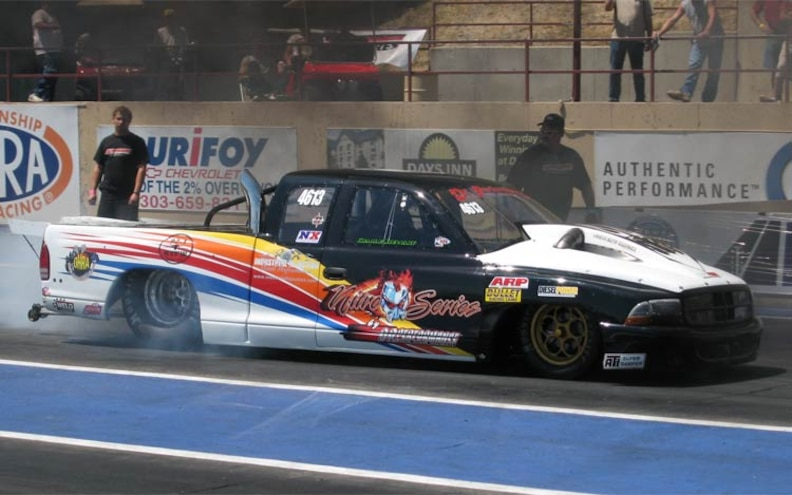 dr Performance Diesel Drag Truck Sets New Record front Vire