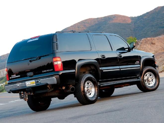 2000 Chevy Suburban rear View