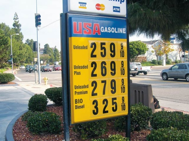 living With Biodiesel fuel Sign