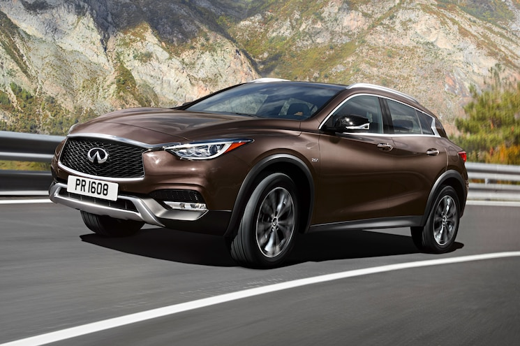 2017 Infiniti QX30 Front Side View Mountains
