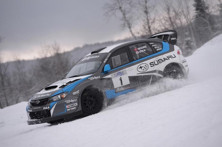 2014 Subaru WRX STI Rally America Race Car Side In Motion