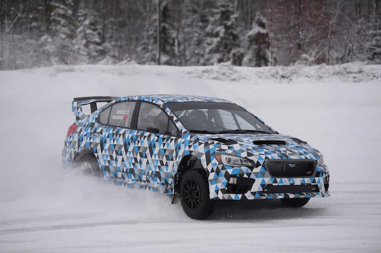 2015 Subaru WRX STI Race Car Front Three Quarter In Motion 02