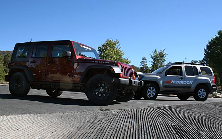 Hankook Test Drive Nissan Xterra And Jeep Wrangler