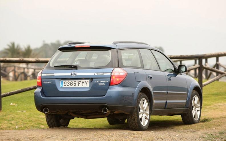 2008 Subaru Boxer Turbodiesel Euro Spec outback Rear Profile