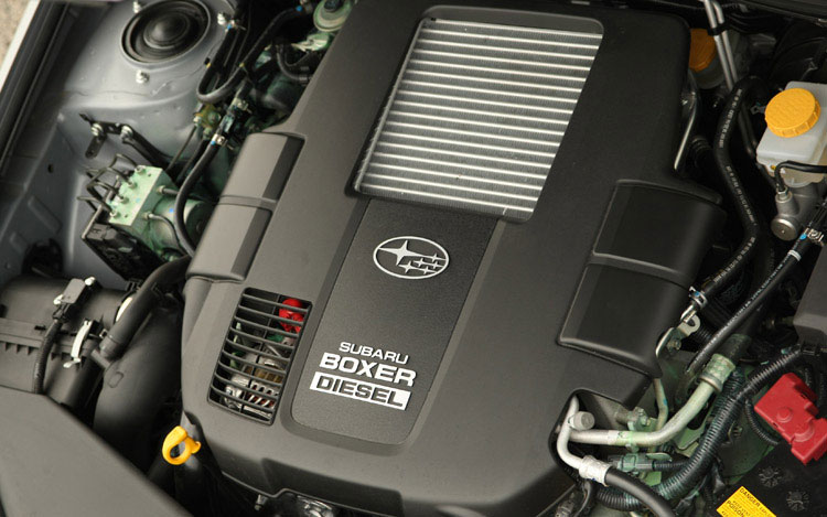 2008 Subaru Boxer Turbodiesel Euro Spec Engine View