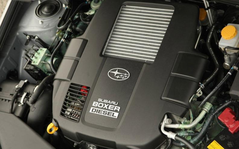 2008 Subaru Boxer Turbodiesel Euro Spec engine View