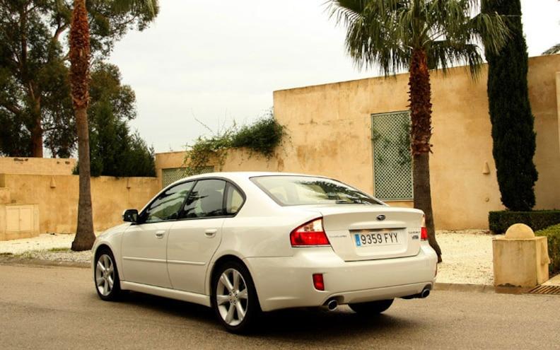 2008 Subaru Boxer Turbodiesel Euro Spec legacy Sedan Rear Profile