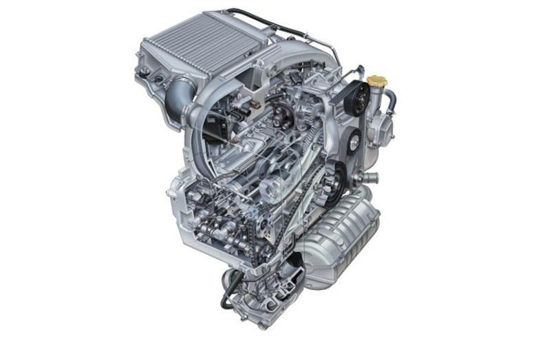 2008 Subaru Boxer Turbodiesel Euro Spec engine Cutaway