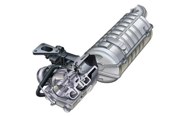 2008 Subaru Boxer Turbodiesel Euro Spec turbocharger Cutaway