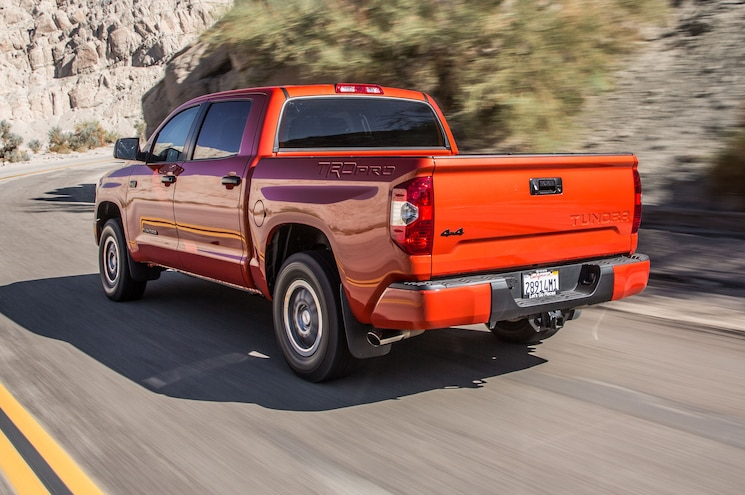 2015 Toyota Tundra TRD Pro Rear Side View  In Motion