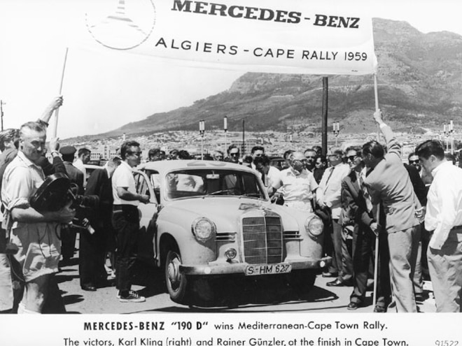 mercedes Benz Diesel 1959 Rally Picture