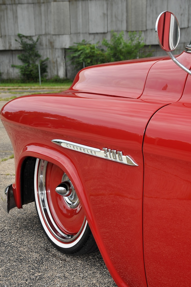 06 1955 Chevrolet 3100 Front Left Quarter Panel