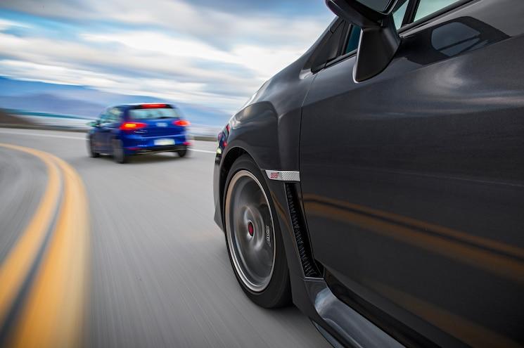 2015 Subaru WRX STI Volkswagen Golf R Front Wheels