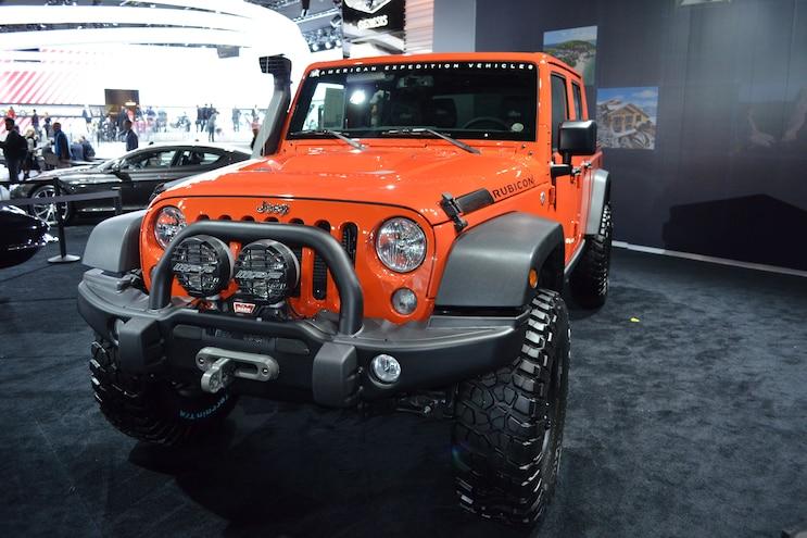 2016 Jeep Wrangler Brute Pickup Front Three Quarter