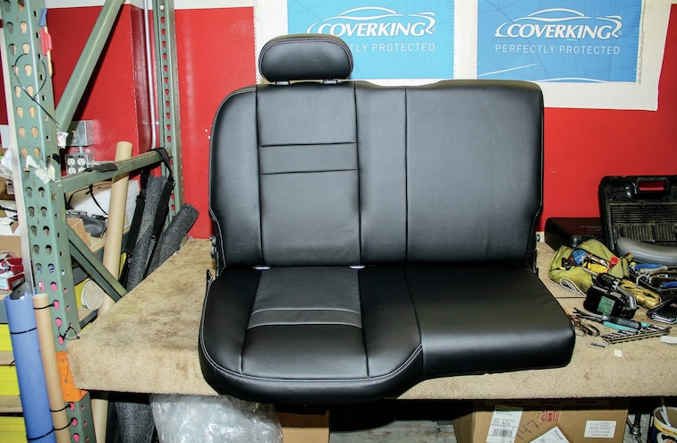 Covered Rear Seat Completed