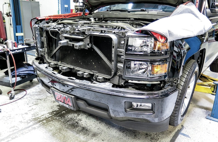 2014 Chevy Silverado With Grille Removed