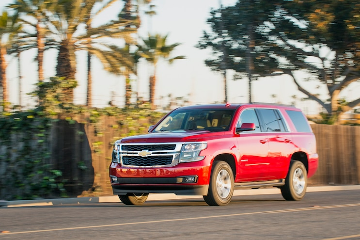 2015 Chevrolet Tahoe LT Front Three Quarters In Motion