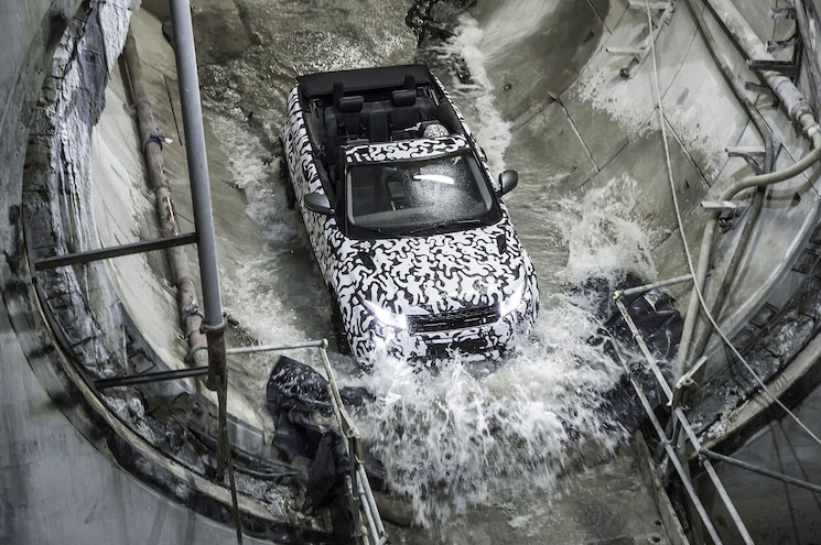 Land Rover Range Rover Evoque Convertible Prototype From Above Fording