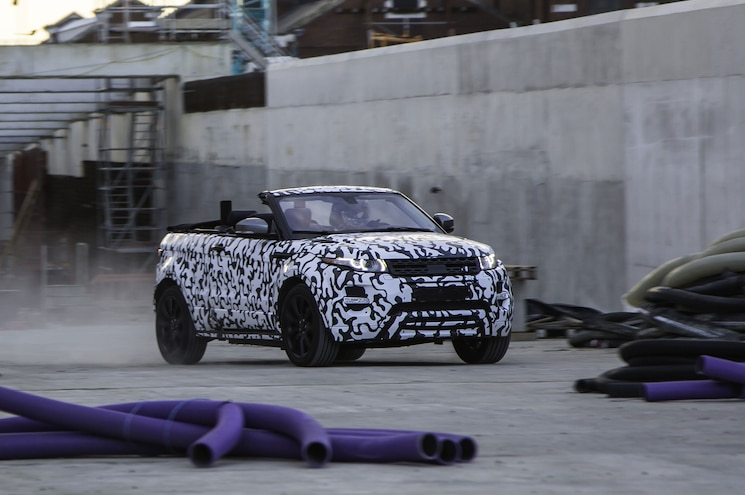 LR Fesses Up to Production-Intent Evoque Convertible Prototype