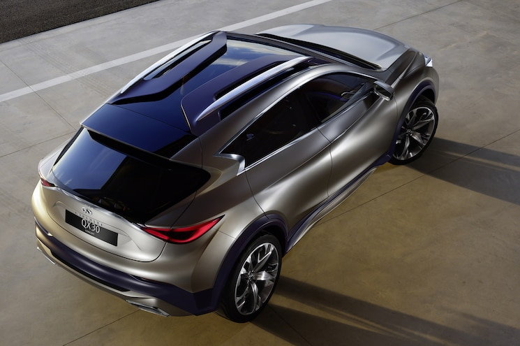 Infiniti QX30 Concept From Above Rear View