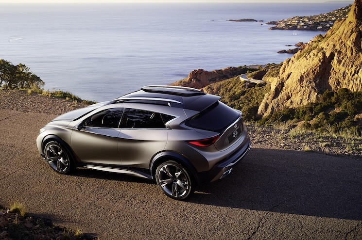 Infiniti QX30 Concept Rear Side Above View