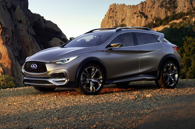 Infiniti QX30 Concept Front Side View Parked
