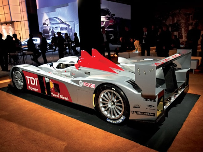 audi R10 Diesel Prototype rear Side View