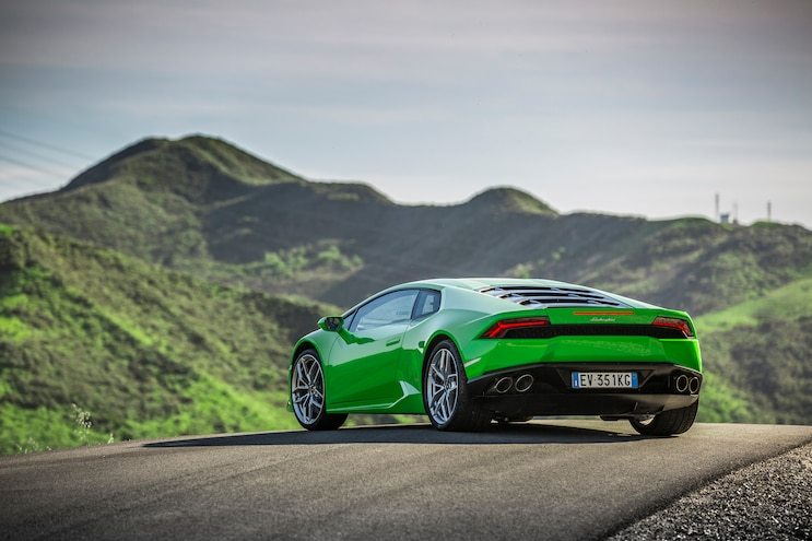 2014 Lamborghini Huracan Rear Three Quarter 02