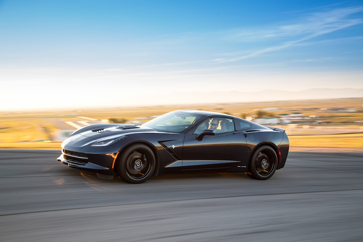 2015 Callaway Chevrolet Corvette SC627 Front Three Quarter In Motion 02