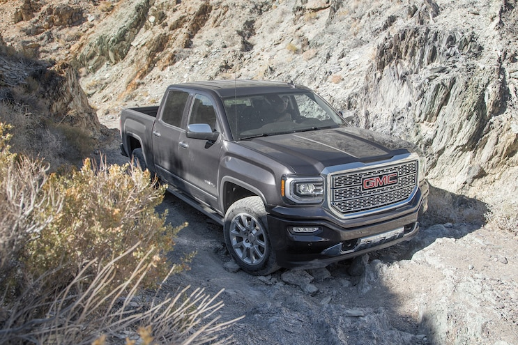 38 2016 GMC Sierra Denali On Trail