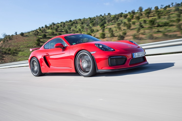 2016 Porsche Cayman GT4 Front Three Quarter In Motion 11