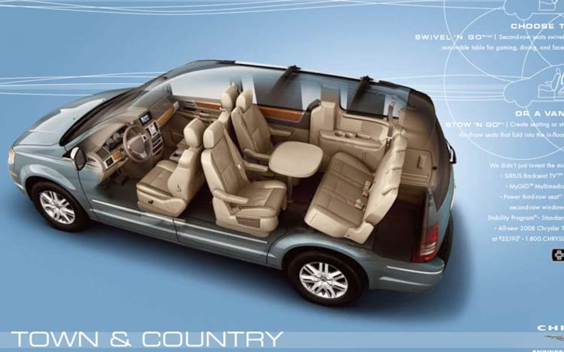 2008 Chrysler Town Amp Country Wins Ward S Interior Of The