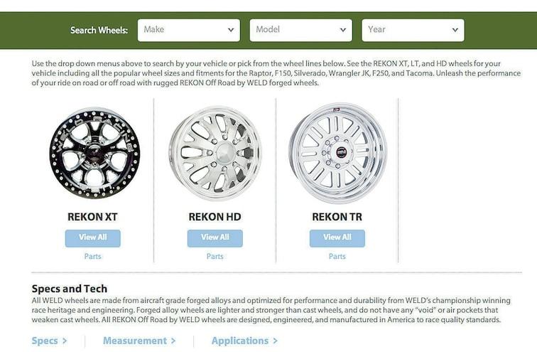 Weld Wheels Website
