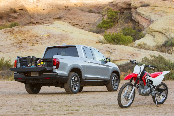 2017 Honda Ridgeline Rear Three Quarter Truck Bed
