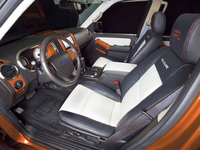 ford Explorer Sport Trac Project Truck interior View