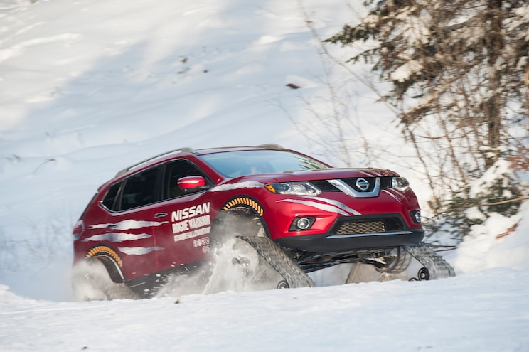Nissan Rogue Warrior Concept Front Three Quarter In Snow 02