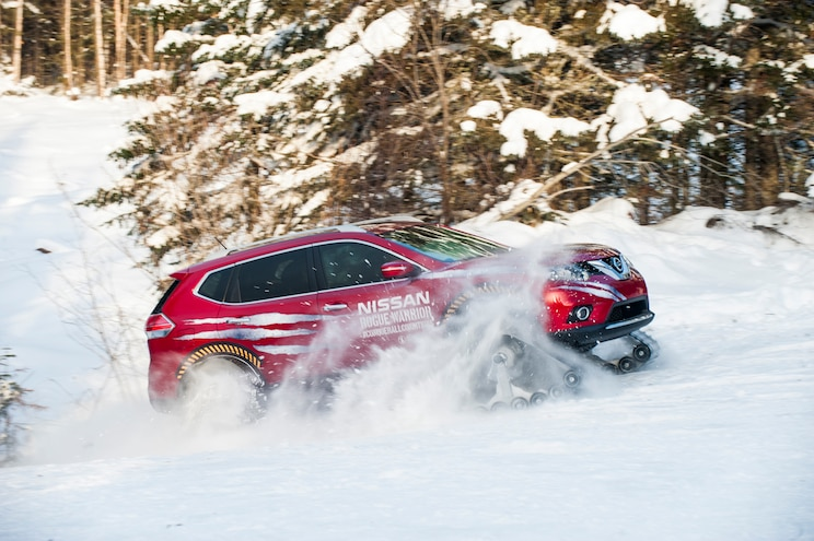 Nissan Rogue Warrior Concept Side In Motion In Snow