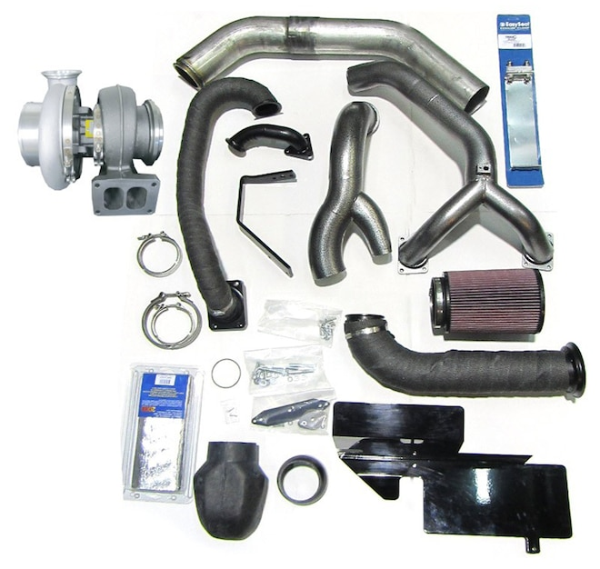 014 Industrial Injection Ford Power Stroke 6 7L Diesel Compound Turbo Kit With BorgWarner S474 Turbo