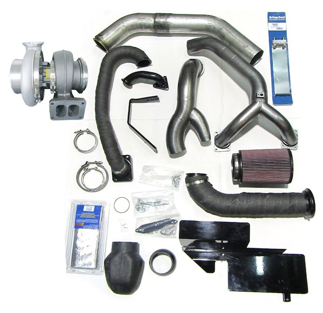 013 Industrial Injection Ford Power Stroke 6 7L Diesel Compound Turbo Kit With BorgWarner S474 Turbo