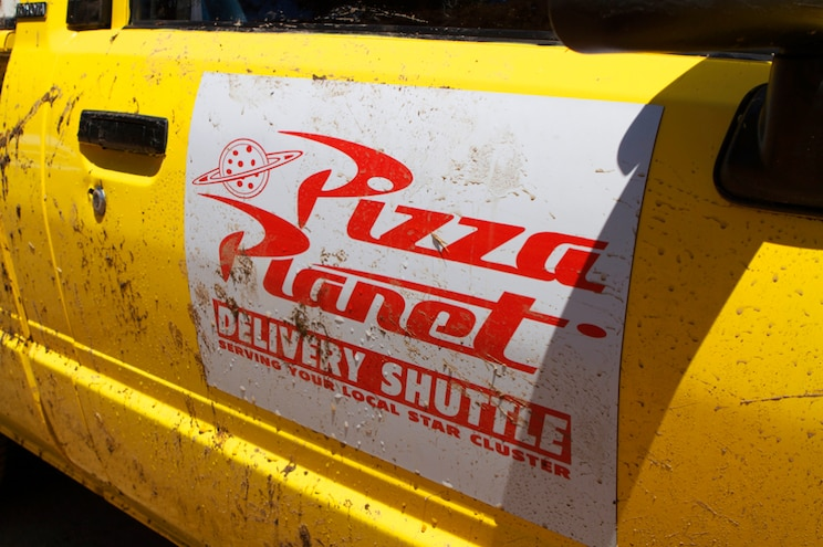 1988 Toyota Pickup Pizza Planet Logo