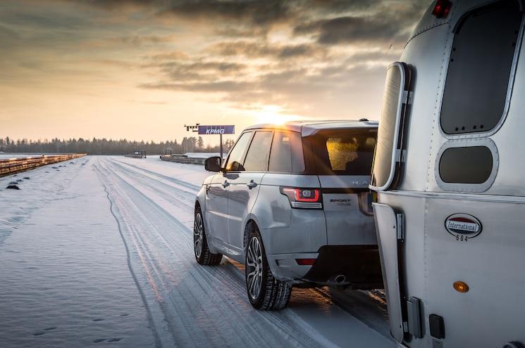 2015 Land Rover Range Rover Sport Hybrid Airstream Rear Quarter Snow