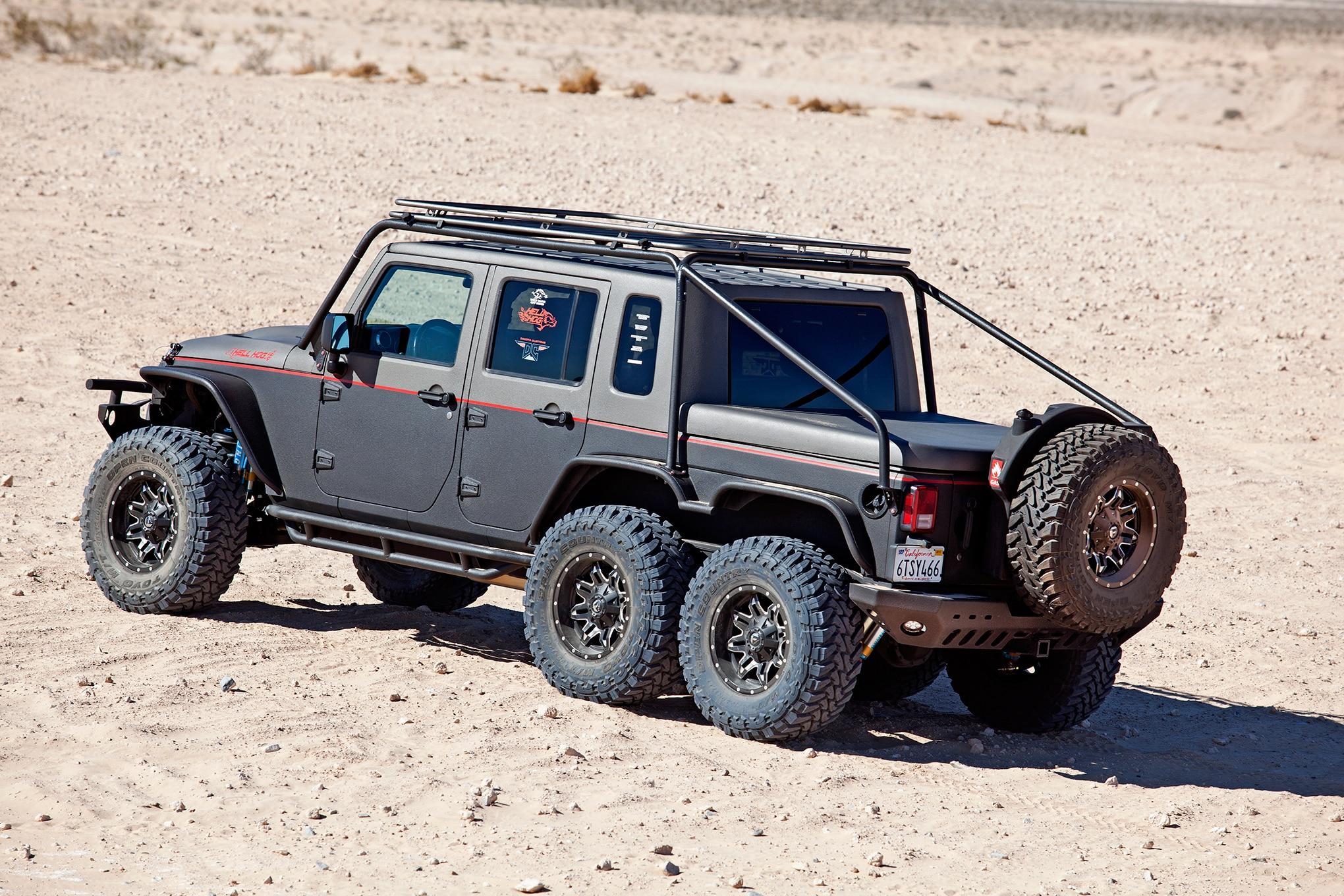 Hell Hog: Hellcat Powered 2012 Jeep Wrangler Unlimited 6x6