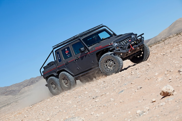 Hell Hog: Hellcat Powered 2012 Jeep Wrangler Unlimited 6x6