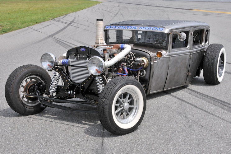 Diesel Rat Rod! 1931 Fordor with a 12V Cummins from Donor Dodge Ram