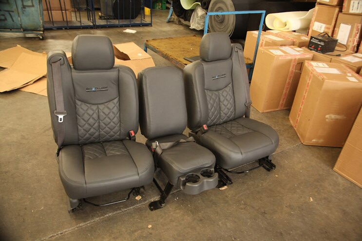 Reupholstering Work Truck Seats with Custom Roadwire Leather Seat Covers