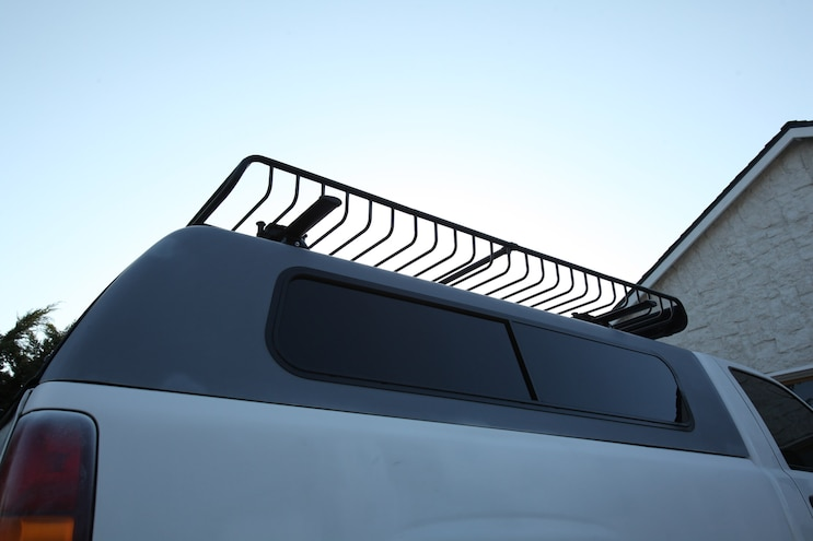 Building out a Truck Bed with a Snugtop Camper Shell, Yakima Roof Rack, and Bedrug