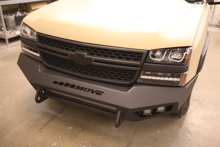 Rebuilding Our Freshly Painted Silverado with custom bumpers, steps, lighting and LEDs