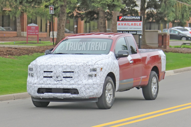 Spied 2020 Nissan Titan With Unusual Sensors Up Front